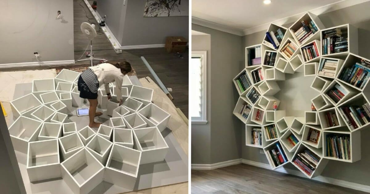 Crafty couple's insanely cool bookcase is a book lover's dream