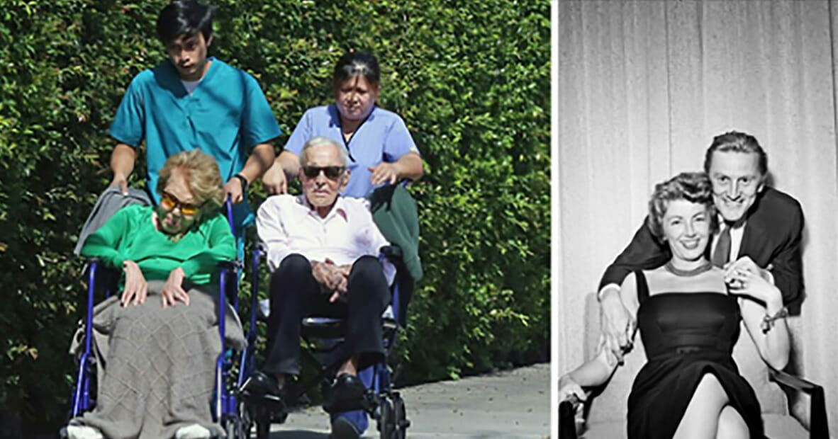 Kirk Douglas, 102, and wife Anne Buydens, 100, still inseparable after 65 years of marriage