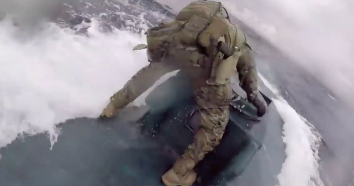 Coast Guard crewman jumps on moving 'narco-sub' with 17,000 pounds of cocaine on board