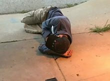 Heartbreaking: Homeless man hoping to find his lost dog sleeps outside of the shelter