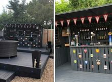 Man builds incredible bar in backyard using wooden pallets – only costs him $112