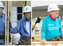 Jimmy Carter returns to building homes with Habitat for Humanity after breaking hip