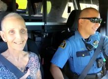 Terminally ill nurse fulfills dying wish to ride along in police car