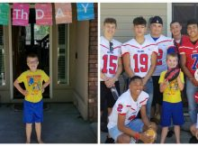 When classmates don't show up at autistic boy's 9th birthday party, a local football team steps in to make his day