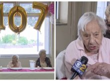 Woman celebrates 107th birthday, and gives her secret for a long life: don't get married