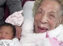 105-year-old meets great-great-granddaughter for the first time as 5 generations meet