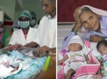 74-year-old woman gives birth to twins – becomes the world's oldest mother