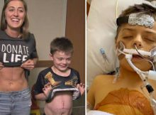 8-year-old boy desperately needs transplant, hugs nurse who gave him part of her liver to save his life
