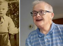 Let's hear it for UK's oldest man with Down syndrome who celebrates beating all odds on his 77th birthday