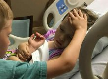 6-year-old brother comforts his dying sister as she holds on to him in heart-wrenching moment