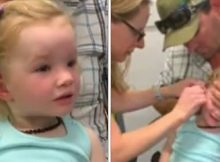 Dad posts moment youngest daughter hears for the first time, melts hearts and goes viral