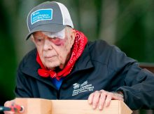 Despite 14 stitches and a black eye, Jimmy Carter is back building homes for Habitat for Humanity