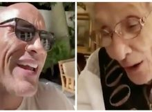 Dwayne 'The Rock' Johnson delights his biggest fan with a song on her 100th birthday