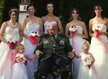 Dying U.S. Army vet walks all 7 of his daughters down the aisle two weeks before he dies