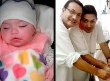 Gay couple adopts baby with HIV who had previously been rejected by 10 families