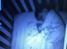 Mom freaks out when she sees a 'ghost baby' sleeping in her son's crib