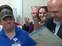 Texas town honors hospital worker with Down syndrome after 27-year career – let's show him love ❤️