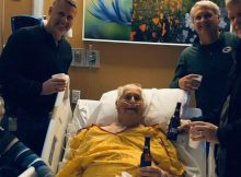 Dying grandfather's only wish is to have one last beer with his family