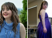 """Model with Down's syndrome who wants to show world """"how beautiful she is"""" achieves dream on catwalk"""