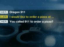Victim's daughter reports domestic violence by calling 911 and ordering a pizza