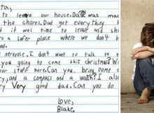 """7-year-old living in domestic violence shelter asks Santa for books and a """"very good dad"""""""