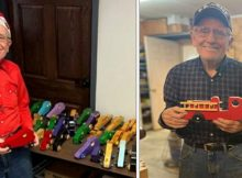 80-year-old veteran makes toys for children in need every Christmas
