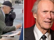 """Clint Eastwood visits Marines at Camp Pendleton 33 years after filming """"Heartbreak Ridge"""" there"""