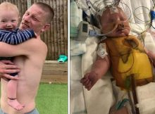 Dad sleeps rough outside hospital for 25 days until he can bring his baby home