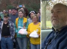 Disabled veteran has spent every holiday alone for the past 15 years–this year 100 strangers joined him