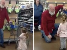 Girl mistakes old man for Santa in grocery store, and he makes her wish come true