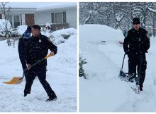 Police officers show up to shovel snow from 99-year-old woman's driveway