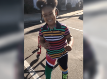 Determined 4-year-old with cerebral palsy learns to walk - congratulations!