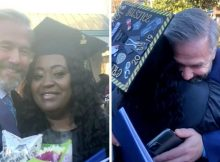 Single mom graduates from college after stranger pays off her $700 school balance