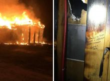 Fire destroys family's home, but leaves Bible verses written on wall studs untouched