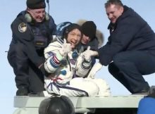 NASA astronaut Christina Koch returns to Earth after a record-breaking 328 days in space
