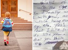 Oklahoma mom finds 'creepy' note in her son's bag after school bus ride home, wants other parents to know