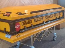 School bus driver who worked 55 years without accident will be laid to rest in special casket