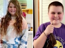 'Selfless' 10-year-old shaves her head and donates 30 inches of hair to non-profit
