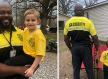 5-year-old dresses as his favorite security officer for 'Dress As Your Favorite Person Day'