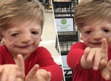 Emotional moment when 2-year-old with rare genetic disorder signs 'I love you' to his mom for the first time