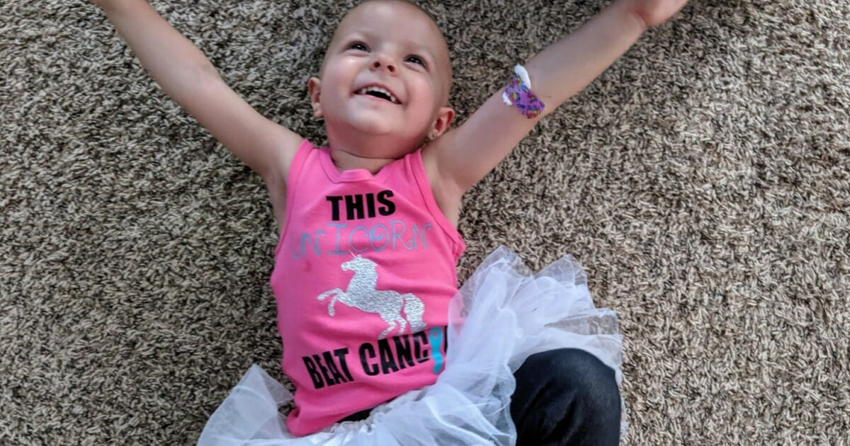 Toddler diagnosed with rare form of ovarian cancer celebrates most recent scans – she's disease-free!