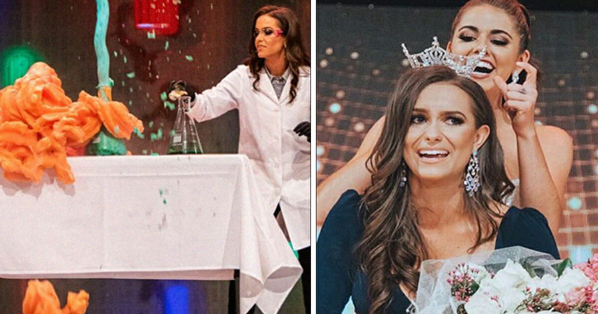 24-year-old biochemist wins Miss Virginia title after performing science experiment as her talent