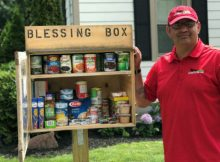 Army veteran sees the hunger problem in his community, so he sets up a food bank on his lawn