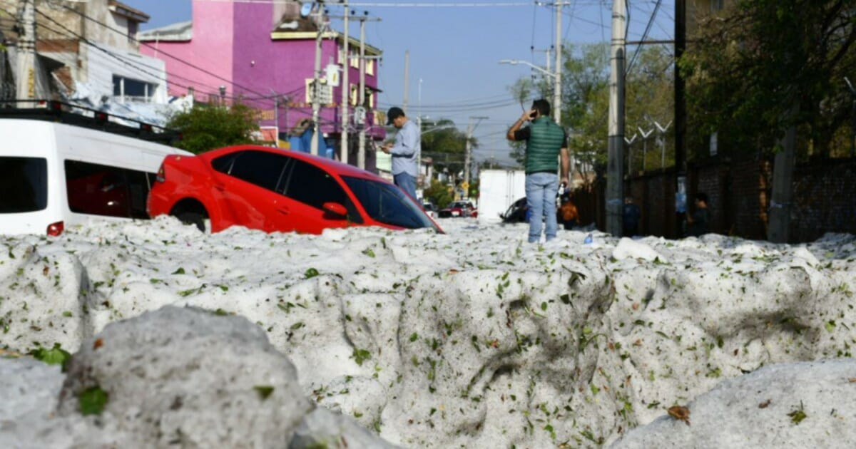Freak summer hailstorm leaves Mexican city buried in 5 feet of ice