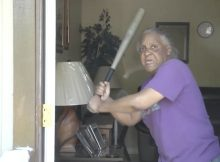 65-year-old lady who used to play softball bashes naked would-be attacker in head with baseball bat