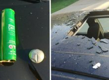 Mom issues warning after can of dry shampoo explodes in hot car and causes severe damage
