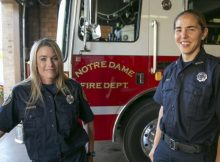 Notre Dame Fire Department swears in first female firefighters – let's congratulate them