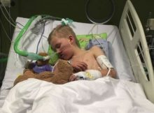 Mom posts photos of son 'unable to breathe or walk' after getting flu, wants to warn others