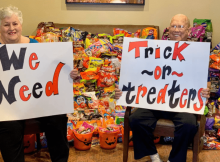 Residents at assisted living facility missed handing out candy so strangers donated bags upon bags of treats