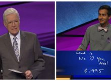 Alex Trebek holds back tears after reading 'Jeopardy!' contestant's surprise answer